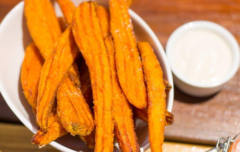 Sweet potato fries at Nourish Cafe in Ipswich, Queensland