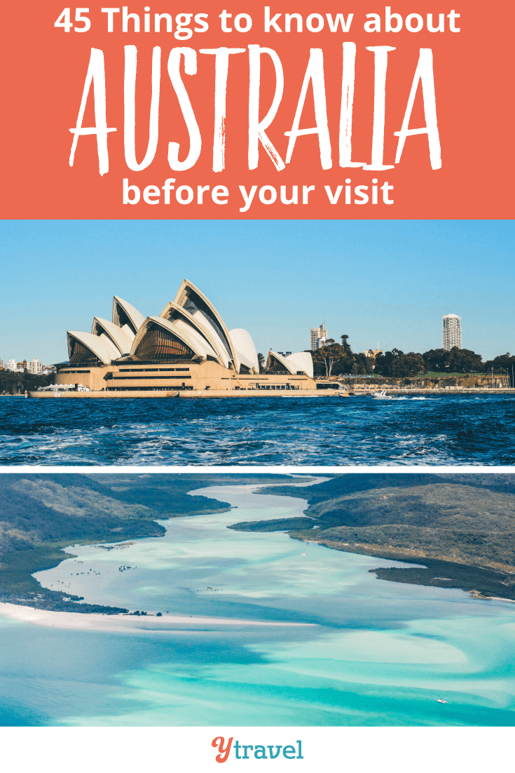Before you visit Australia, here are 45 interesting things to know!