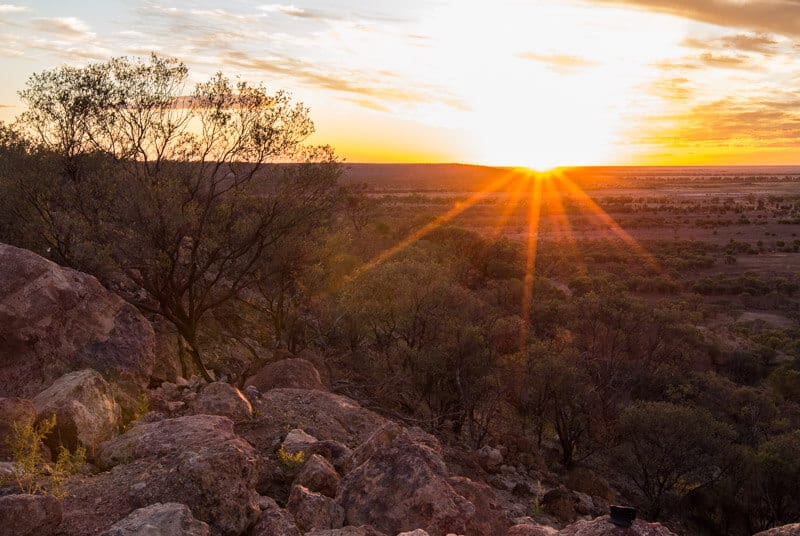 Sunset in Winton, Outback Queensland