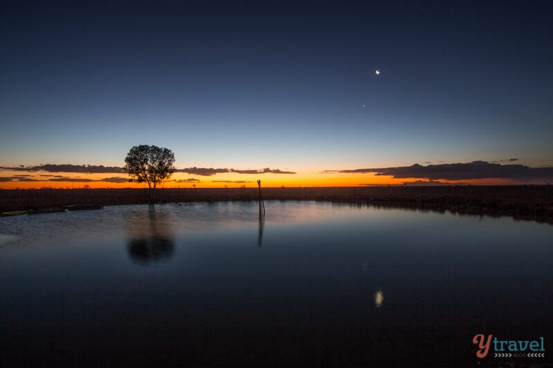 Sunset at Camden Park Station in Longreach, Outback Queensland