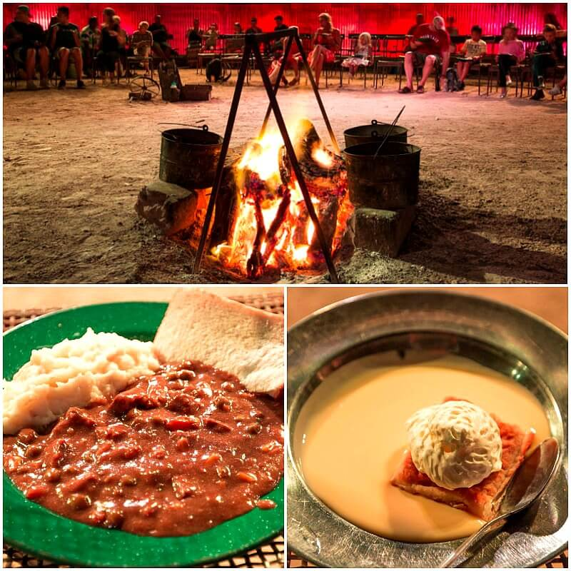 Campfire dinner in Longreach, Outback Queensland