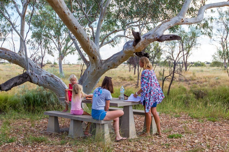 Picnic by the Barcoo River in Tambo, Outback Queensland