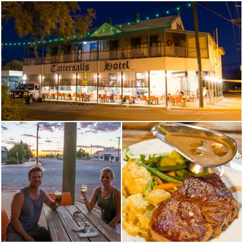 Tatersalls Hotel in Winton, Outback Queensland