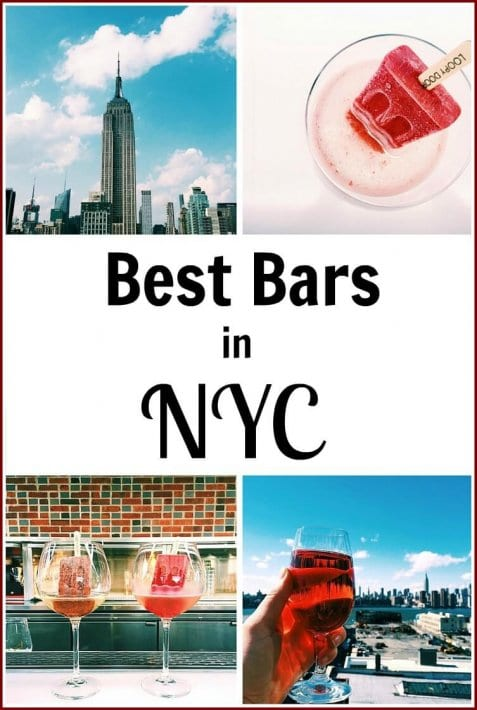 12 of the best bars in NYC from rooftop, to outdoors, to hidden bars. Check this list out on the blog!