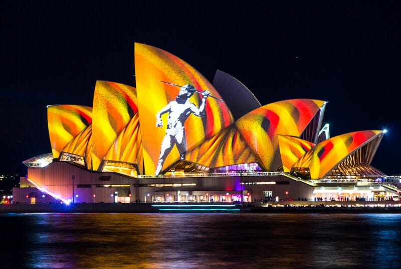 The Sydney Opera House during the Vivid Sydney Festival of lights.