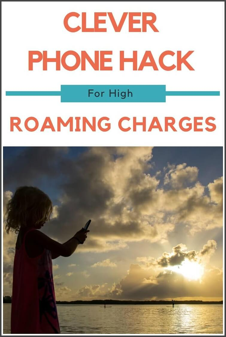 High international data roaming charges - a hack with