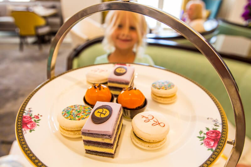 One of the best things to do in Sydney with kids is have High Tea at the Langham Hotel