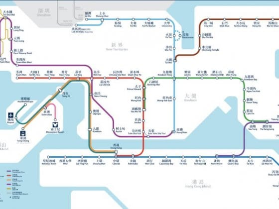 MTR system map
