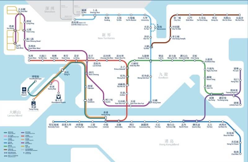 Hong Kong MTR system map