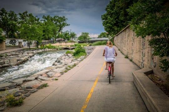 riding the Cherry Creek Trail Denver