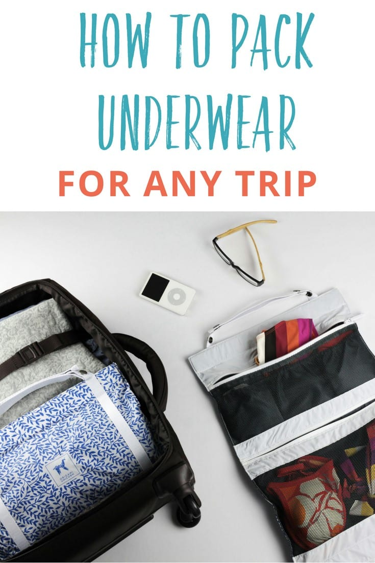 The ultimate travel underwear organizer helping you learn how to pack underwear for any trip. It's a life saver and travel packing essential!