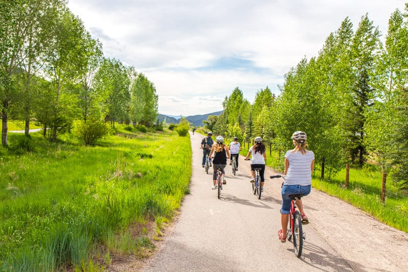 Bike riding in Snowmass, Colorado - Rio Grande trail