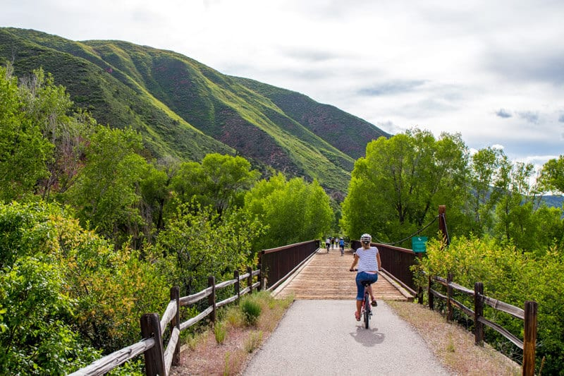 Bike riding Snowmass, Colorado - Rio Grande trail