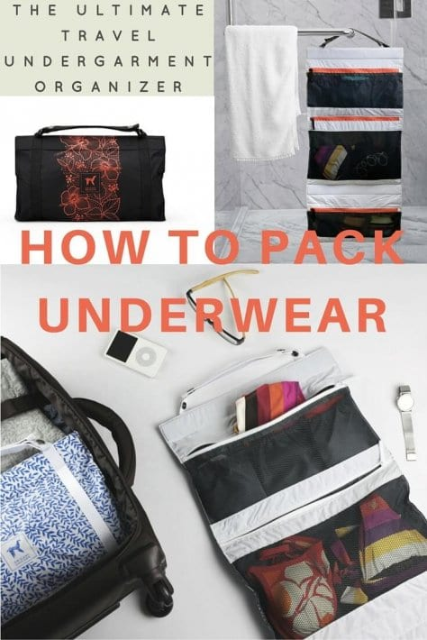 How to pack underwear when traveling using the Origami Unicorn travel Underwear Organizer