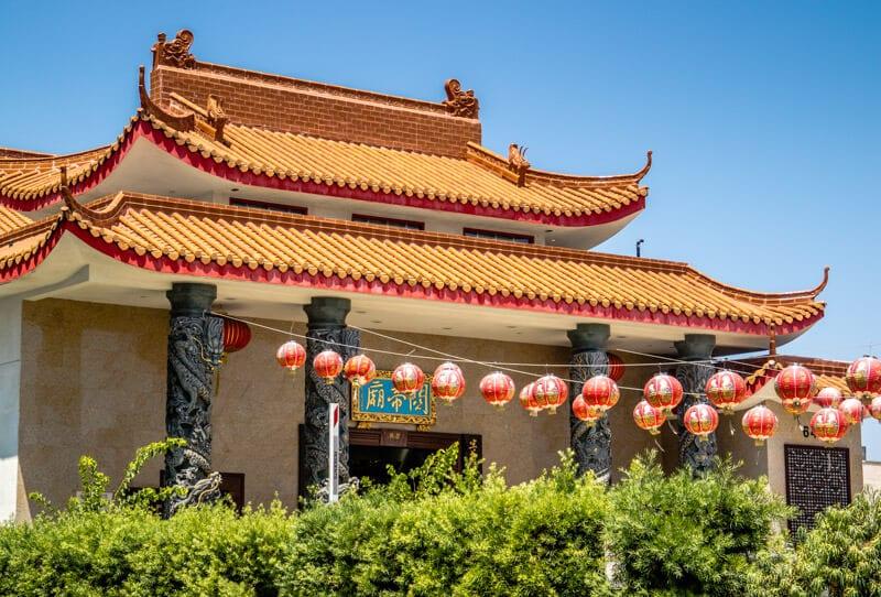 Chinatown temple LA
