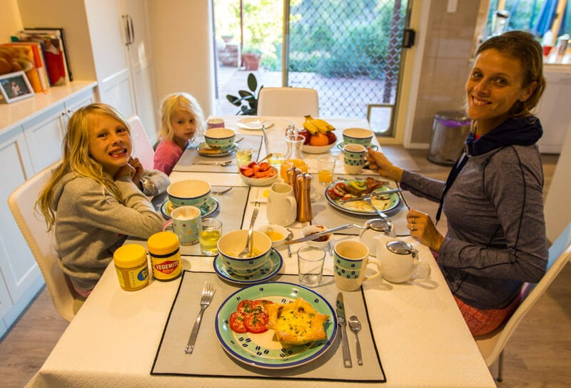Breakfast at the The Dales Boutique B&B, Cooran, Noosa Hinterland, Queensland, Australia