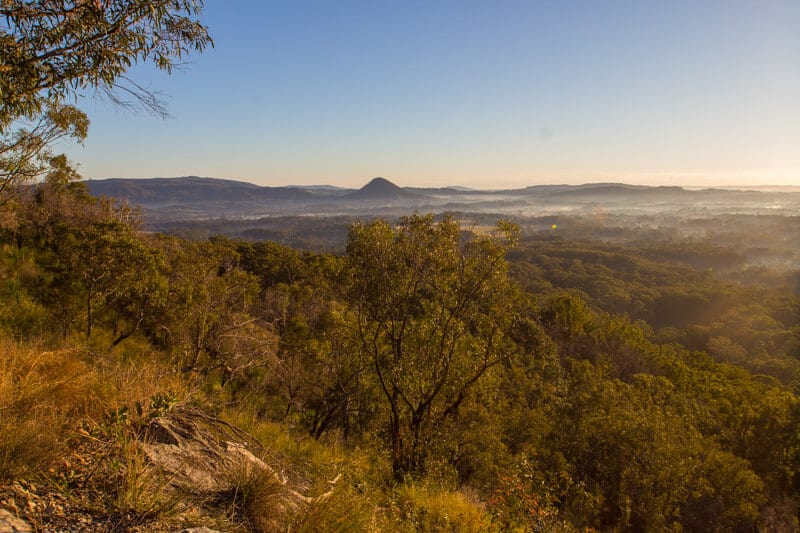 Morning hike up Mt Cooroora, Noosa Hinterland, Queensland, Australia