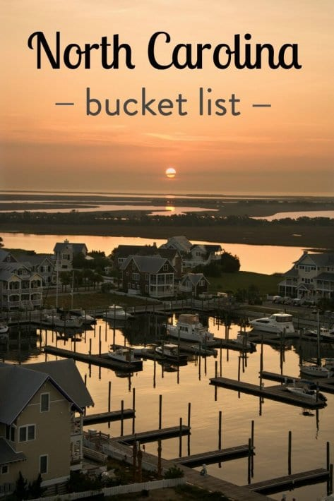 What are the best places to visit in North Carolina? Help us create our NC bucket list.
