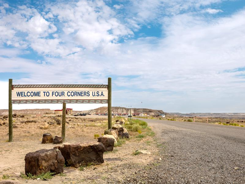 The Four Corners is the only location in the United States