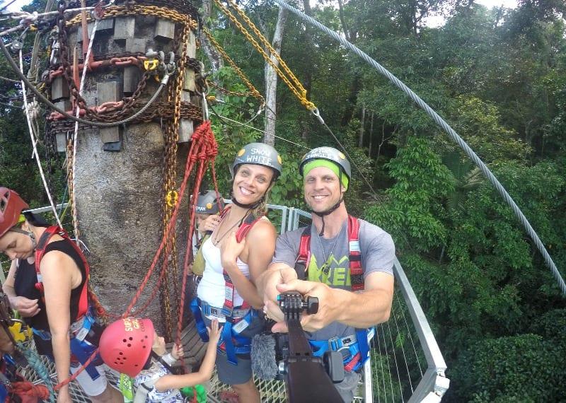 Zip lining in the Daintree Rainforest