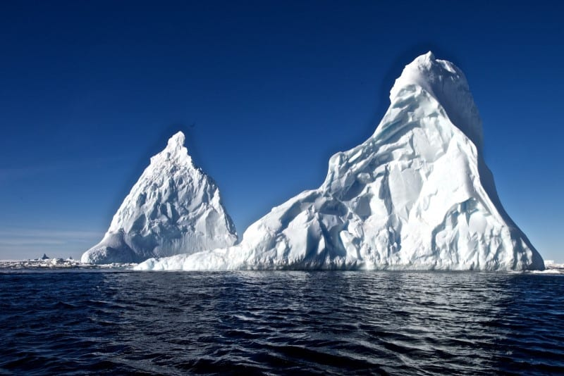icebergs in the Ross Island Antarctica