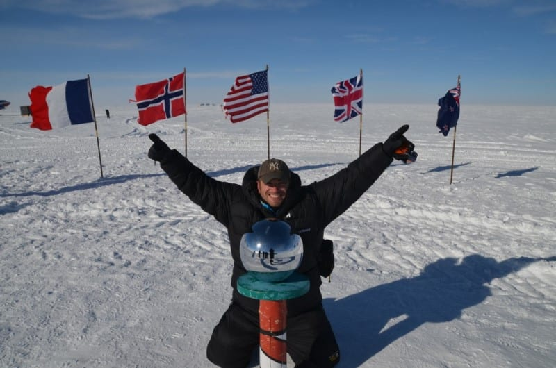 Lee Abbamonte ceremonial South Pole expeditition