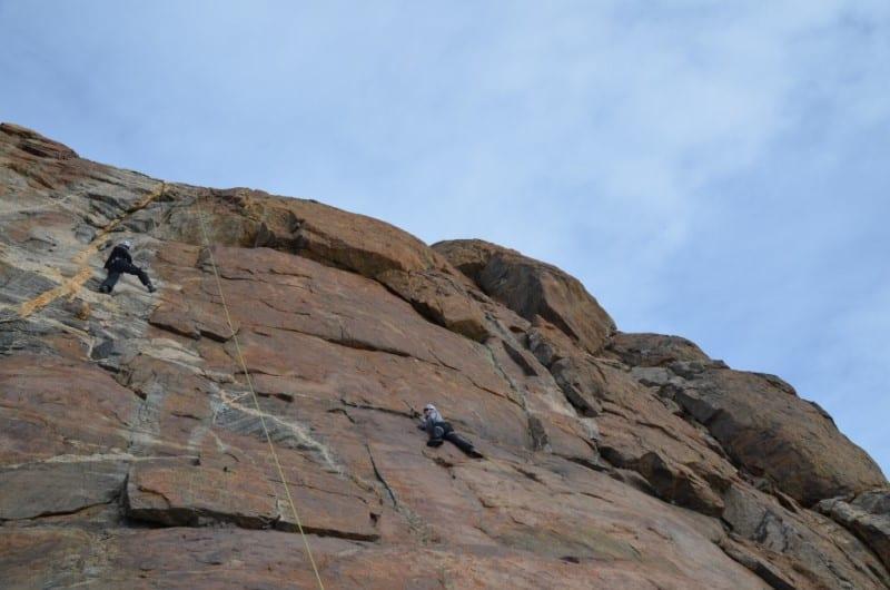 rock climbing white desert antarctica