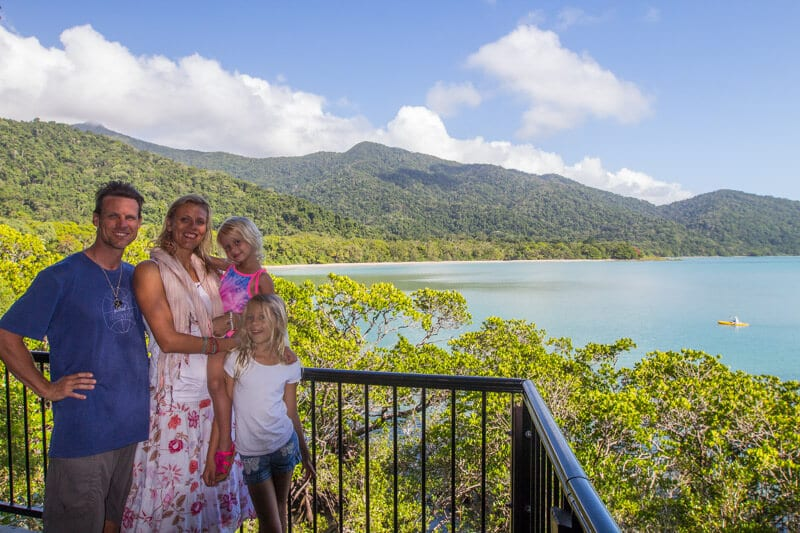 View of Cape Tribulation Beach from Kulki Lookout in the Daintree Rainforest