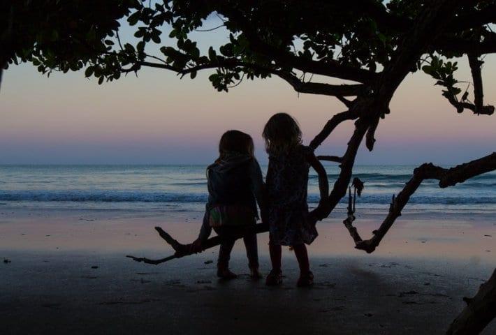Sunset on Cape Tribulation Beach - Raintree Rainforest, Queensland, Australia