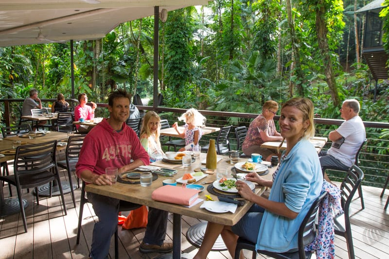 Breakfast at the Daintree Eco Lodge & Spa in the Daintree Rainforest