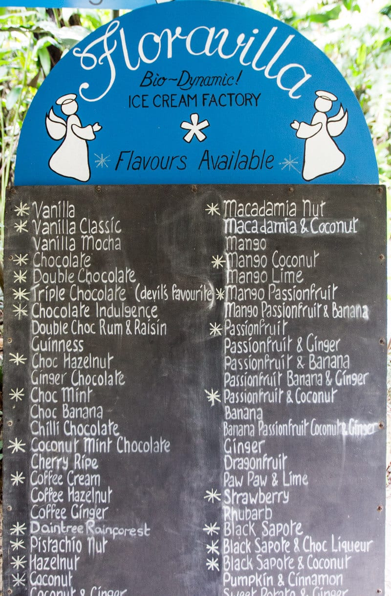 Taste some Floravilla Ice Cream in the Daintree Rainforest