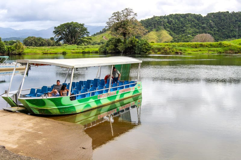 Crocodile Express - croc spotting tour on the Daintree River in North Queensland, Australia
