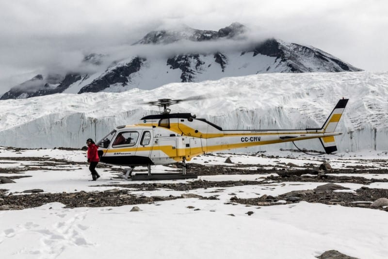 Helicopter landing, Taylor Valley, Ross Sea, Antarctica