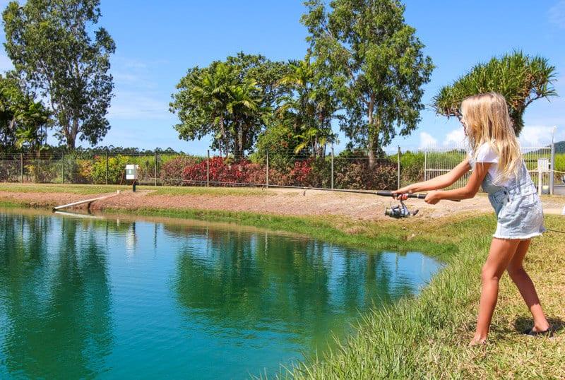 Barramundi fishing in North Queensland, Australia