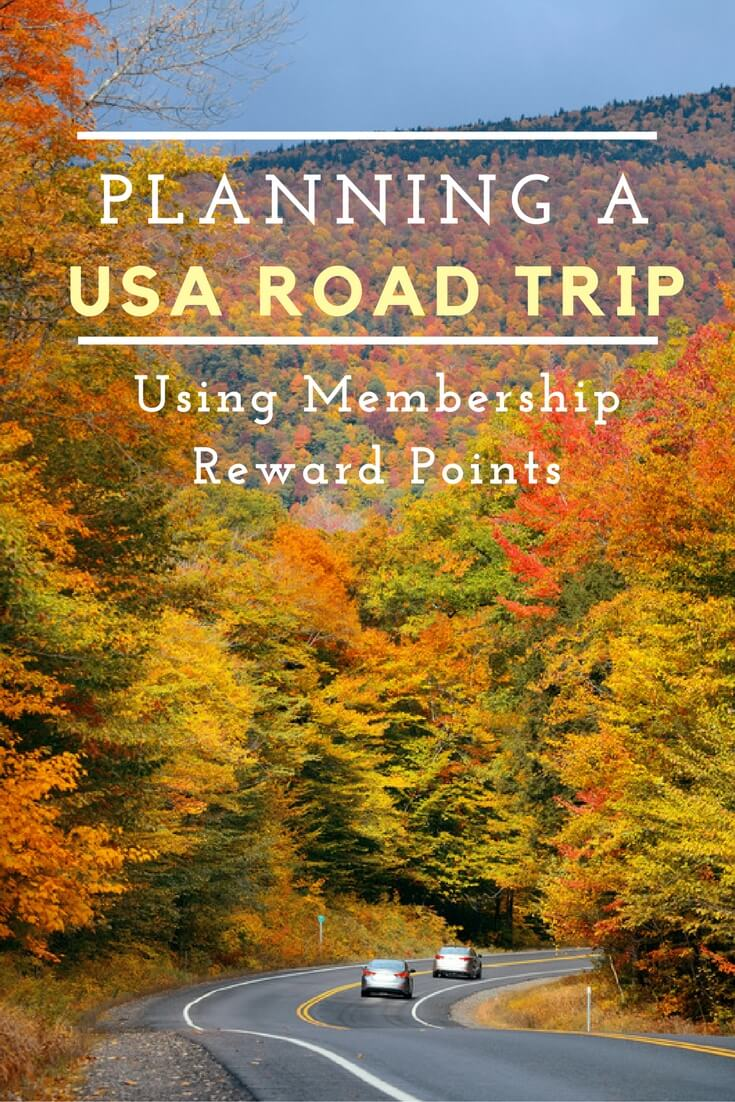 Planning a usa road trip using membership reward points how far can
