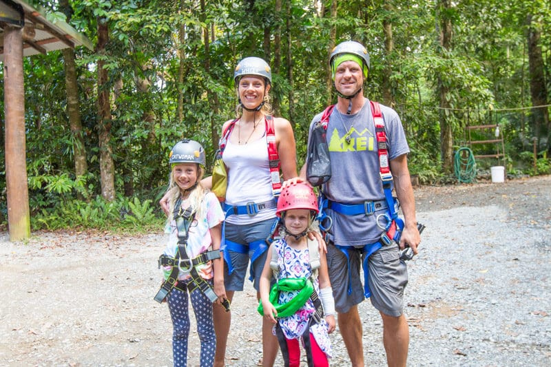 Ready to go Jungle Surfing (zip lining) in the Daintree Rainforest