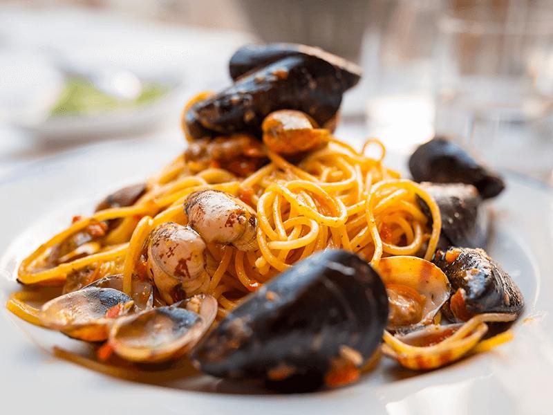 seafood pasta in Cinque Terre