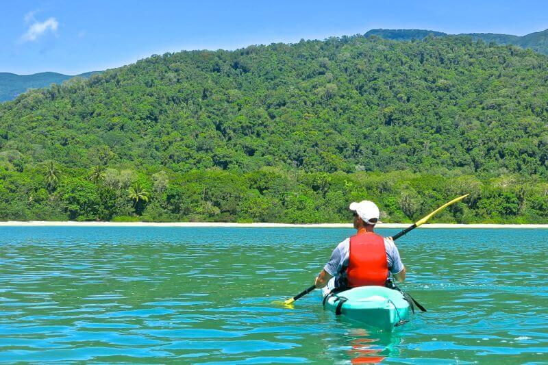 Kayaking at Cape Tribulation in the Daintree Rainforest