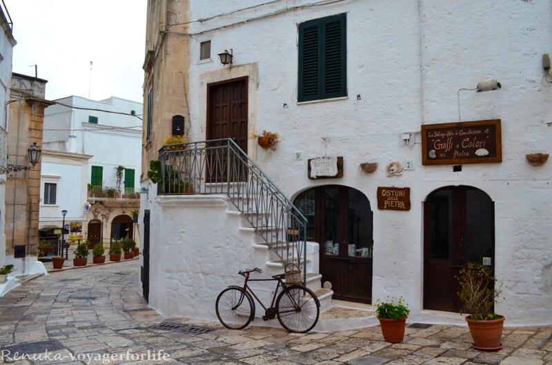 White town Ostuni Puglia Italy