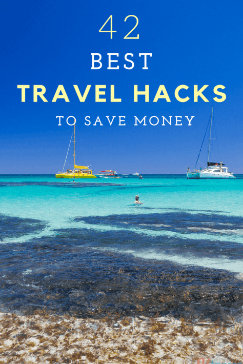 Here are 42 of the best travel hacks to save money on travel. Using some of these tips we've saved over $1400 in the past week alone