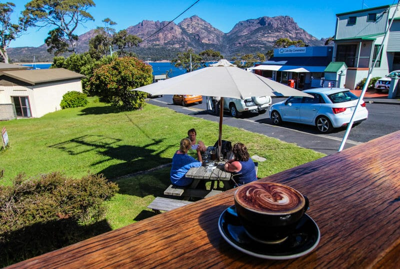 Coffee in Coles Bay - Tasmania, Australia