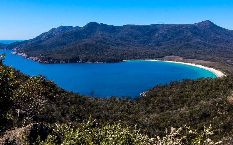 Wineglass Bay - a must visit beach in Freycinet National Park, Tasmania, Australia