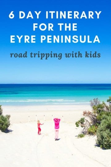 6 day itinerary for a road trip with kids on the Eyre Peninsula in South Australia. Click to read highlights and things to do on the Eyre Peninsula