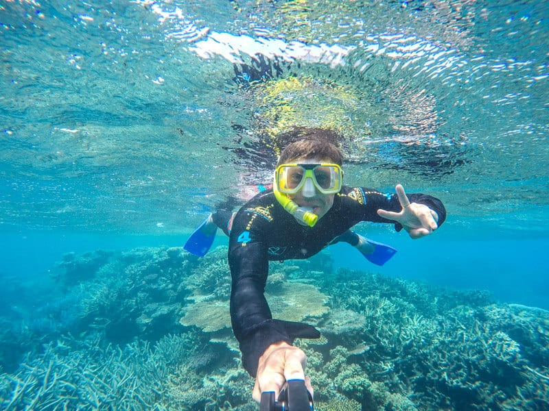 Snorkeling at the Great Barrier Reef in Australia