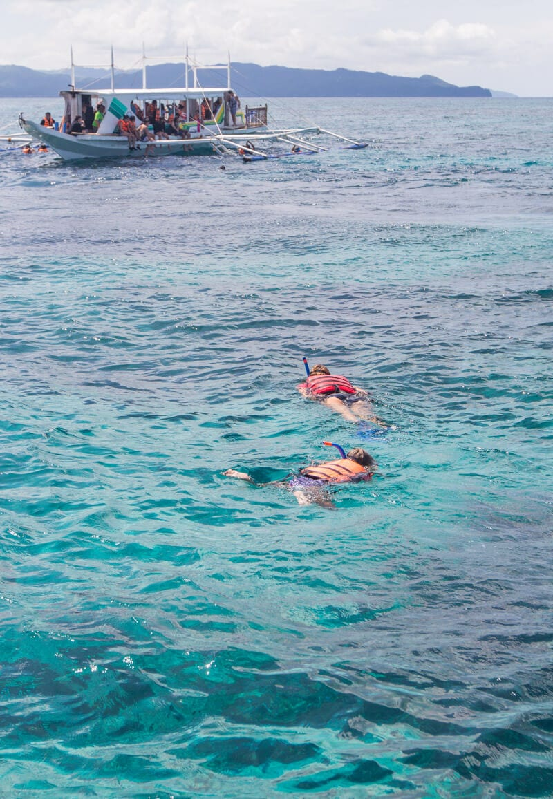 Snorkeling on Boracay Island in the Philippines - one of the best things to do with kids