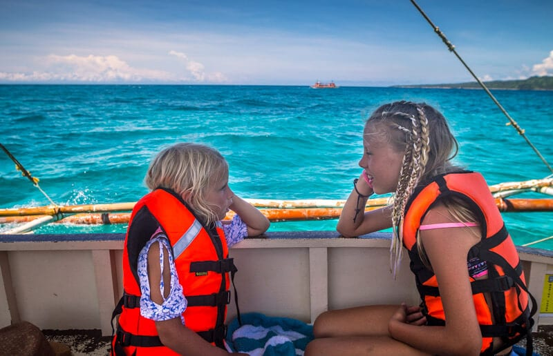 Snorkeling and Island Hopping on Boracay is one of the best things to do in Boracay Island the Philippines. Click to read more travel tips for Boracay with kids
