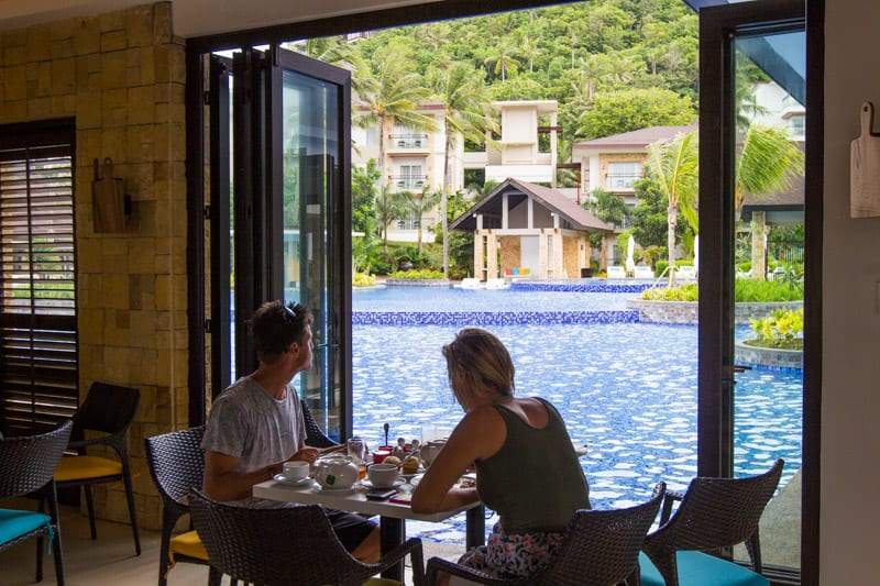 Many great restuarants is one of the reasons we loved staying at the Movenpick Resort Boracay Island in the Philippines. You can read more about this family friendly resort in our blog