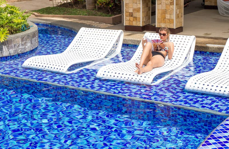 The biggest pool on Boracay Island is one of the reasons we loved staying at the Movenpick Resort Boracay Island in the Philippines. You can read more about this family friendly resort in our blog
