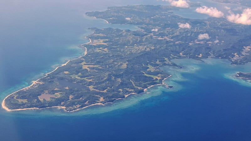 Philippines from the air Cebu Pacific low cost airline