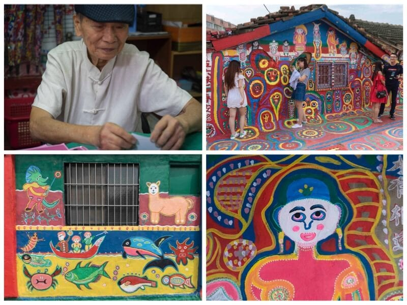 The Rainbow Village is one of the best things to do in Taiwan with kids. Click to read more